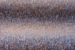 Knitted texture blue, brown Royalty Free Stock Images