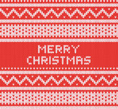 Knitted texture with nothern ornament. Vector background. Merry Christmas. Royalty Free Stock Images