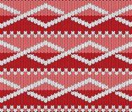 Knitted texture with ornament Royalty Free Stock Images