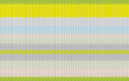 Knitted texture pattern with a stripe Stock Image
