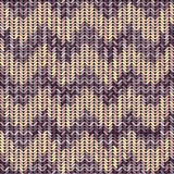 Knitted texture patterned chevron Royalty Free Stock Photo