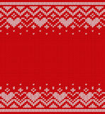 Knitted texture, seamless pattern. Vector. Stock Photography