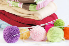 Knitted things Royalty Free Stock Image