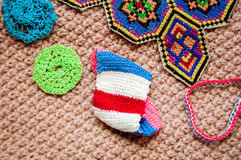 Knitted things Stock Photo