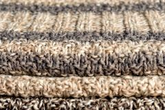 Knitted things stacked royalty free stock image
