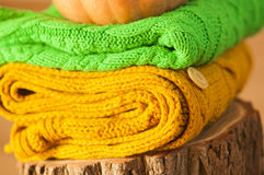 Knitted things Stock Images