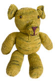 Knitted toy dog Stock Photo