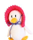 Knitted toy duck A Royalty Free Stock Images