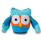 Knitted toy owl Stock Photography