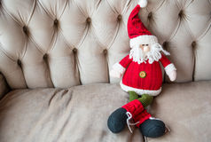 Knitted toy Santa Claus Royalty Free Stock Image