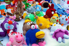 Knitted toys Royalty Free Stock Image