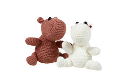 Knitted toys stock image
