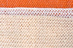 Knitted tricolor background Stock Image