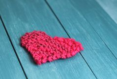 Knitted  Valentine Royalty Free Stock Images