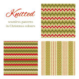Knitted vector backgrounds Royalty Free Stock Image