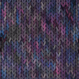 Knitted vector Seamless Fabric Pattern Stock Image