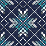 Knitted Vintage Sweater Design. Fair Isle Seamless Pattern Stock Photo