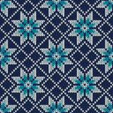 Knitted Vintage Sweater Design. Fair Isle Seamless Pattern Royalty Free Stock Images