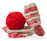 Knitted warm socks Royalty Free Stock Photo