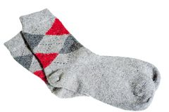 Knitted warm winter socks Stock Photography