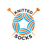 Knitted wear logo Stock Images