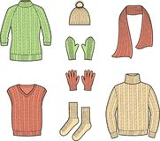 Knitted wear vector illustration