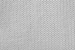Knitted white fabric Royalty Free Stock Photo