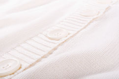 Knitted white jersey texture Royalty Free Stock Images
