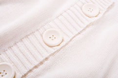 Knitted white jersey texture Stock Image