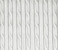 Knitted white texture Royalty Free Stock Photography