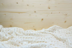 Knitted white woolen fabric Royalty Free Stock Image
