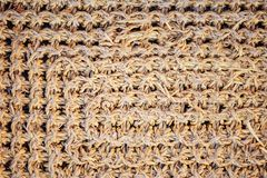 Knitted or wicker texture, mat, pad royalty free stock photography