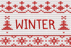 Knitted winter background with place for text Royalty Free Stock Images