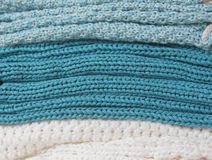 Knitted winter background Royalty Free Stock Photography
