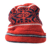 Knitted winter cap Royalty Free Stock Image