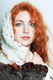 Knitted winter clothes Royalty Free Stock Photo