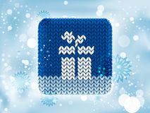 Knitted winter icon Royalty Free Stock Images