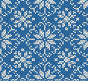 Knitted winter jacquard pattern Royalty Free Stock Images