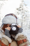 Knitted winter photo concept Royalty Free Stock Photo