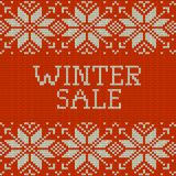 Knitted Winter sale template banner. EPS 10 vector. Knitted Winter sale template banner. And also includes EPS 10 vector Royalty Free Stock Photo