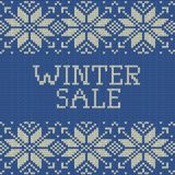 Knitted Winter sale template banner. EPS 10 vector. Knitted Winter sale template banner. And also includes EPS 10 vector Royalty Free Stock Photography
