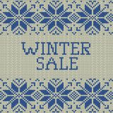 Knitted Winter sale template banner. EPS 10 vector. Knitted Winter sale template banner. And also includes EPS 10 vector Stock Photo