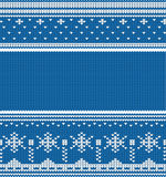 Knitted winter seamless linear ornaments Stock Photos