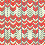 Knitted wool colorfull seamless pattern with ornament Royalty Free Stock Photos