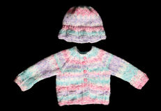 knitted wool jumper and hat Royalty Free Stock Image