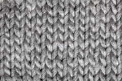 Knitted Wool Pattern. Grey Knitted Wool Pattern. See my other works in portfolio Royalty Free Stock Photo