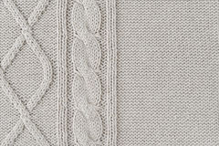 Knitted wool pattern Royalty Free Stock Image