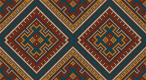 Knitted Wool Pattern in Tribal Aztec Style. Seamless Background Royalty Free Stock Image