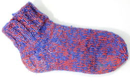Knitted wool socks Stock Images