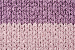 Knitted wool texture. High resolution knitted detail of fabric trico Royalty Free Stock Images